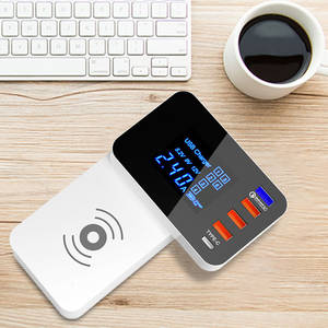 Charger-Station-Hub Wireless-Charger Power-Adapter Desktop-Strip Type-C QI Fast-Charging