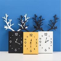 Nordic minimalist wall clock creative wooden antler Home decor hanging clock  living room bedroom office home watch clocks Wall Clocks     -