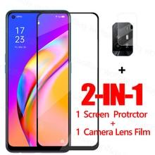 Vetro pieno di colla per OPPO A95 5G protezione dello schermo in vetro temperato per OPPO A95 5G pellicola protettiva per telefono per OPPO A95 5G pellicola per lenti