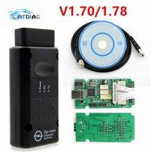 V1.70 OBD2 OP-COM V1.78 OP com para Opel OPCOM para Opel Ferramenta de Diagnóstico Do Carro Scanner de Diagnóstico Do Carro Real Flash Firmware