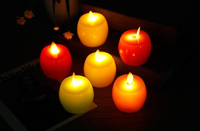 New Electronic Candle Christmas Emulated Paraffin Shell Creative Craft