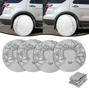 4 шт 27-29 дюймовые покрышки для шин, крышки для колес для трейлера RV Camper Protector, водонепроницаемые от солнца, дождя, мороза, снега