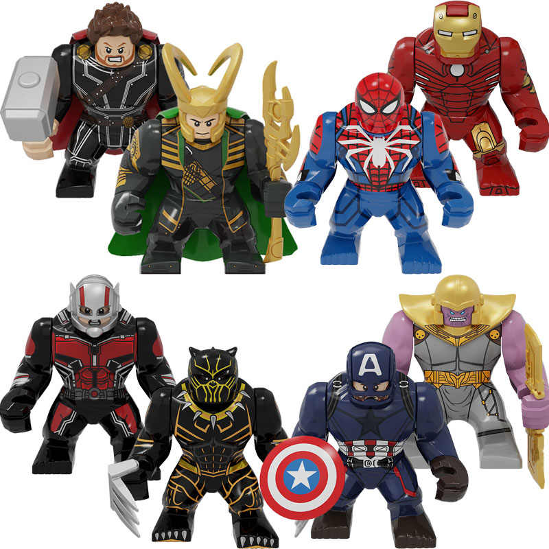 Marvel Avengers: Endgame Super Heroes Thanos clown Venom Hulk Anti-venom Mini Doll Action Figures For children Toys gifts