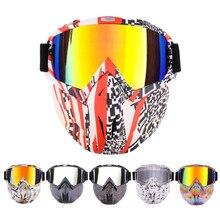 Riding Eyewears Ski Goggles Snow Snowboard Glasses Snowmobile Motorcycle UV400 Glasses Anti-fog Motocross Skiing Detachable Mask