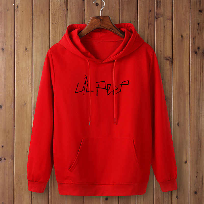 Nieuwe Hip Hop LIL PEEP Hoodies Met Hoed Voor Mannen Vrouwen Unisex Fleece Sweatshirt Plus Size Lente Herfst Winter Streetwear