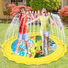 170cm Inflatable Spray Water Cushion Summer Kids Play Water Mat Lawn Games Pad Sprinkler Play Toys Outdoor Mini Tub Swiming Pool