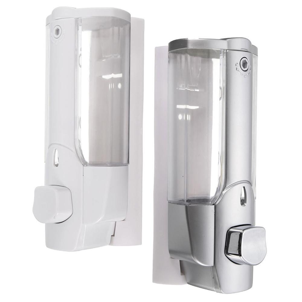 High Sale Liquid Soap Dispenser Wall Mount 350ml Bathroom Accessories Detergent Shampoo Dispensers Double Hand Soap Bottle HVR88