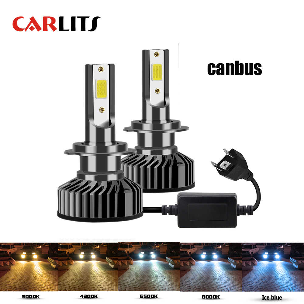 CARLITS Led H7 Headlight Bulb H4 LED H1 H3 H8 H11 9005 HB3 9006 HB4 9007 COB 10000LM 6500K 12V Auto Fog Light Car Lamp Canbus CE