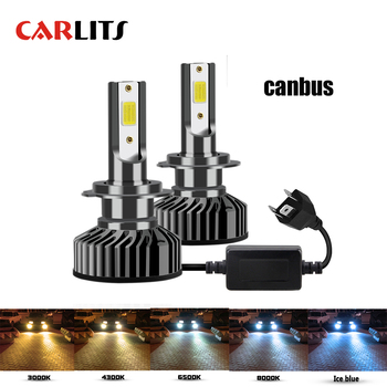 CARLITS Led H7 Headlight Bulb H4 LED H1 H3 H8 H11 9005 HB3 9006 HB4 9007 COB 10000LM 6500K 12V Auto Fog Light Car Lamp Canbus CE txvso8 h7 led headlight 6000k 50w h4 h1 h11 9005 hb3 9006 hb4 10000lm canbus csp chips auto fog lamp bulbs car accessories 12v