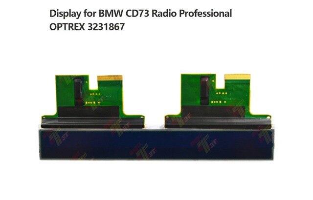 LCD זכוכית תצוגת עבור BMW CD73 OPTREX 3231867 מיני קופר מקצועי רדיו CD נגן E90 E91 E92 פיקסל תיקון