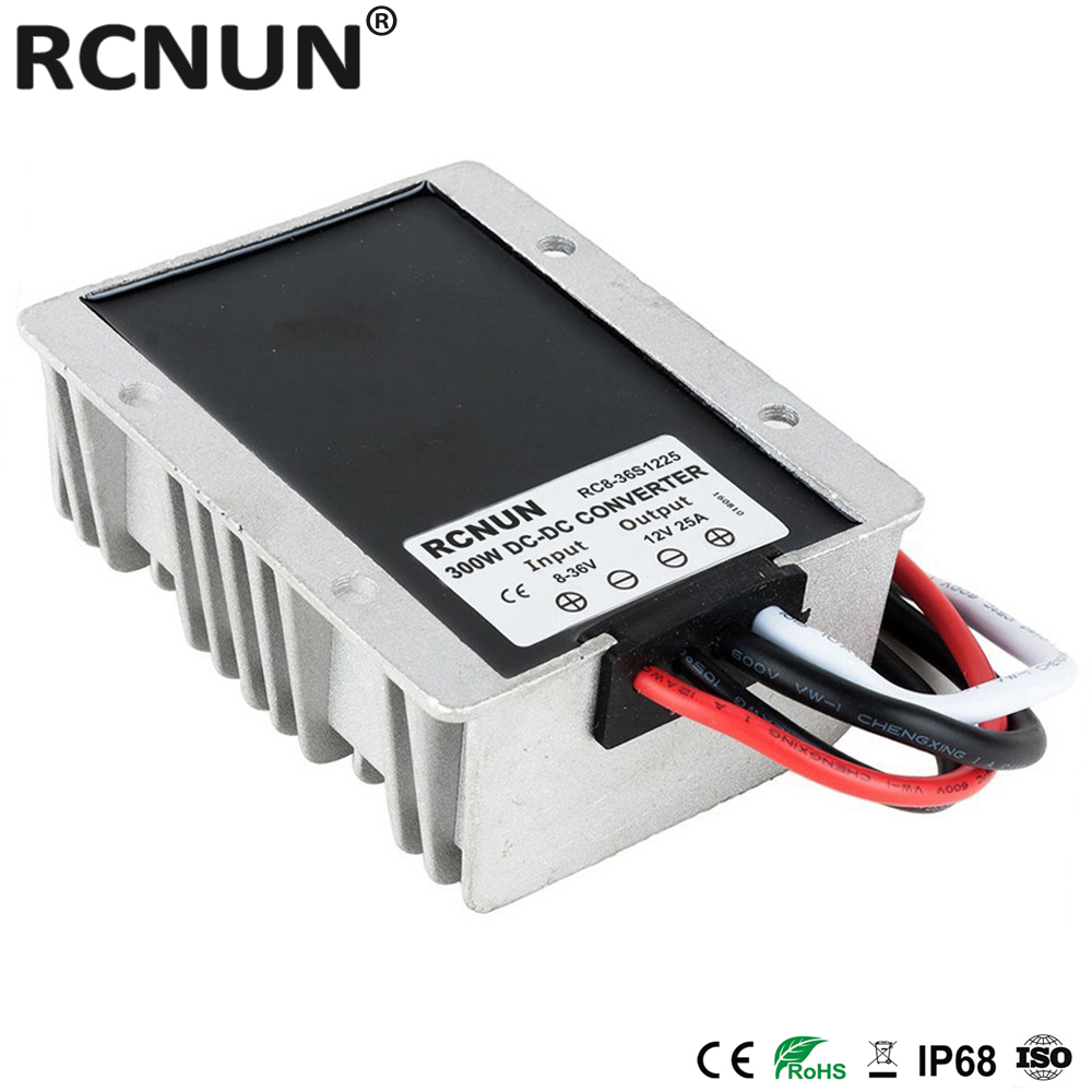 Image 2 - 8 36V TO 12V 15A 20A 25A Automatic Boost Buck DC DC Converter 13.8 Volt to 12 Volt Car Power Supply Voltage Stabilizer CE RoHSdown converterconverter 24v 12v24v 12v -