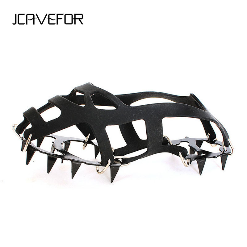 18-Teeth Crampons Shoe-Covers Cleats Spike Anti-Slip Ice-Snow Climbing 1-Pair M/L