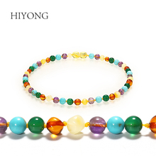 Baltic Amber Baby Teething Necklace Unisex Diy Handmade  Beads Natural Jewelry for Boys