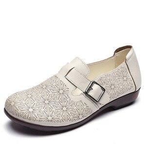 Image 2 - DRKANOL 2020 wiosenne buty damskie oryginalne skórzane wkładane mokasyny damskie płaskie buty damskie płaski baleriny moda pojedyncze buty H802