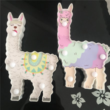 Novelty Alpaca 3D LED Animal Night Lights Cute Table Battery Lamp Home Bedside Sleeping For Kids Baby Toy Atmosphere