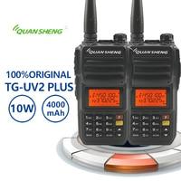 2PCS New QuanSheng TG UV2 Plus Walkie Talkie 10km Long distance transmission 10W 4000mAh Large Battery Radio Comunicador Baofeng