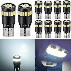 10x W5W T10 LED Bulb Car Interior Readling Lights For Peugeot 307 206 308 407 207 406 208 3008 2008 508 408 306 301 106 107 4008