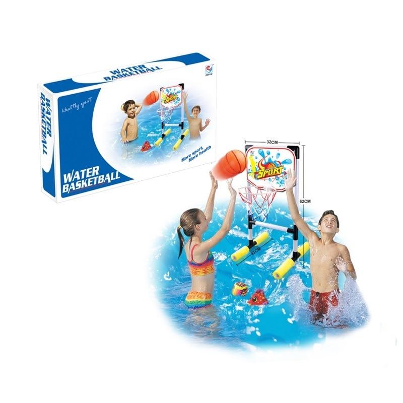 32cm eau basket-ball jouer avec l'eau plage jouets basket-ball anneau ensemble enfants eau tir sport jouet