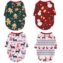 Одежда для собак зимние теплые куртки Щенок Рождественская маленьких