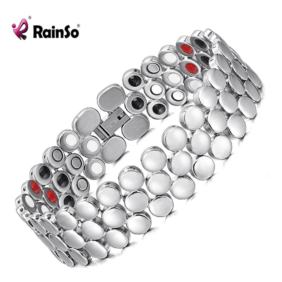 Браслет из нержавеющей стали Rainso, модный браслет унисекс с негативными ионами, из нержавеющей стали, биоэнергии, 2019|Цепочки и браслеты|   | АлиЭкспресс