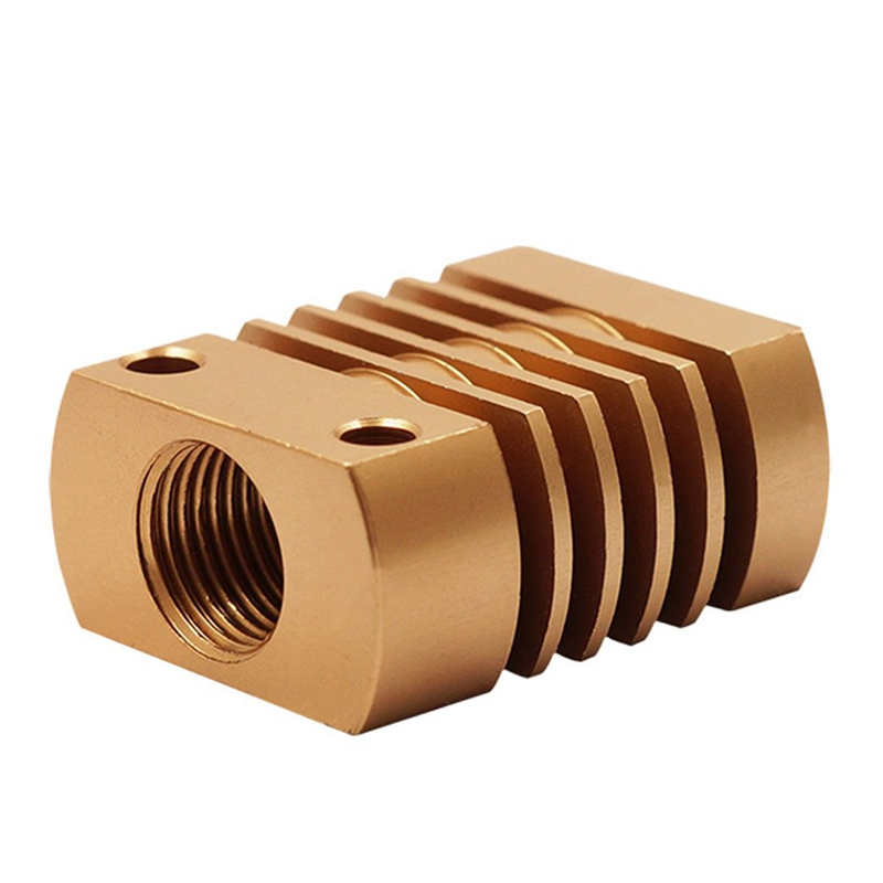 metal Heat Sink Radiator Cooling Block For 3D Printer Mk10 Extruder Gold in 3D Printer Parts Accessories from Computer Office