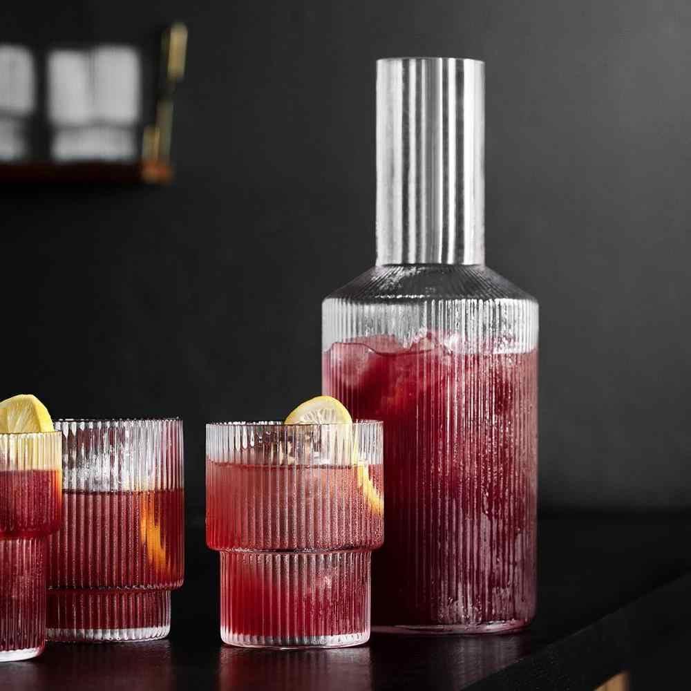 Ücretsiz kargo 4 adet/1 adet dalgalanma su bardağı, viski bardağı, kokteyl bardağı, dalgalanma uzun İçecek, dalgalanma sürahi, meyve suyu bardakları