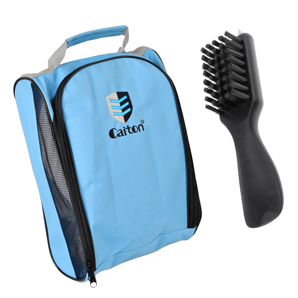 Golf Shoes Brush Cleaner Shoehorn W/ Spike Wrench & Shoes Tote Bag Golf Club Brush Cleaner Golf Accessories