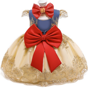 Baby Girls Lace Princess Dress 1 2 Year Old Birthday Party Sets Newborn 1st Christening Gown Snow white Christmas Costume Outfit