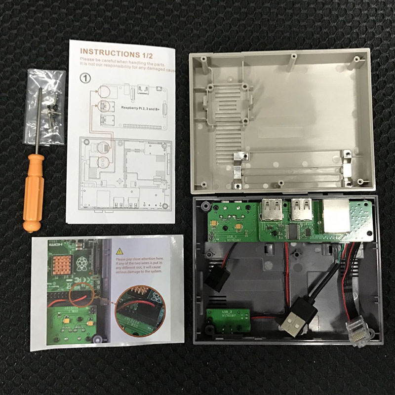 Case Box Portable Durable Functional Power Reset Button for Raspberry Pi 3 2 B SGA998 in Computer Cables Connectors from Computer Office
