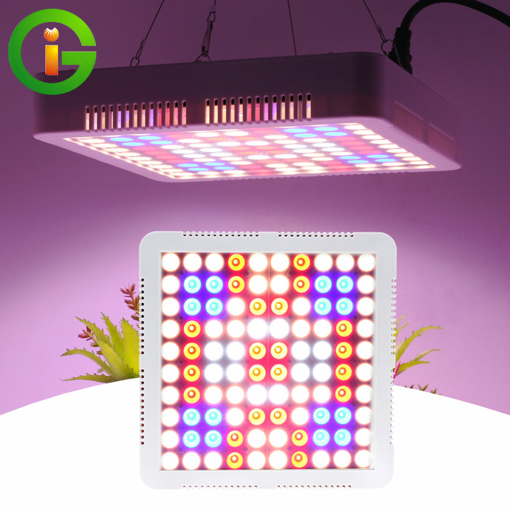 1000W LED Grow Light Full Spectrum Phyto Lamp With Cooling Fan LED Plant Grow Lights for Hydroponic Indoor Plants Veg and Flower