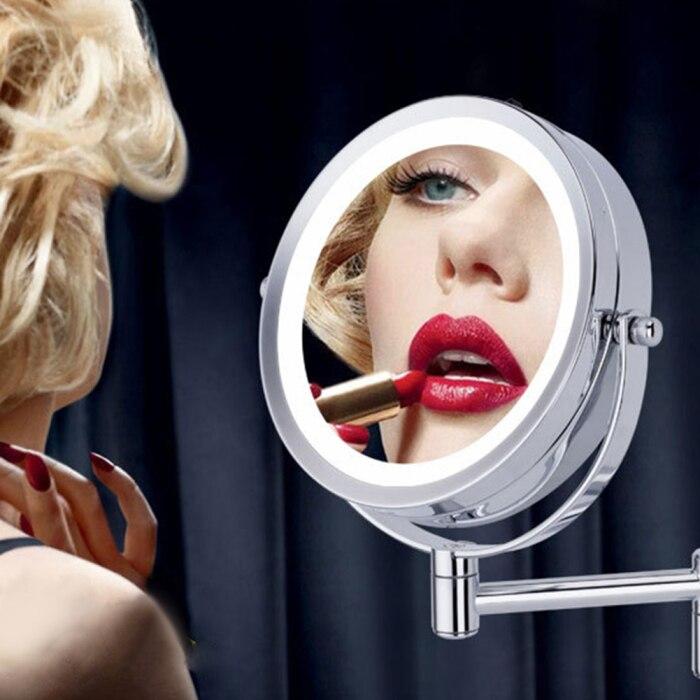 de maquiagem led luz dois lados 360