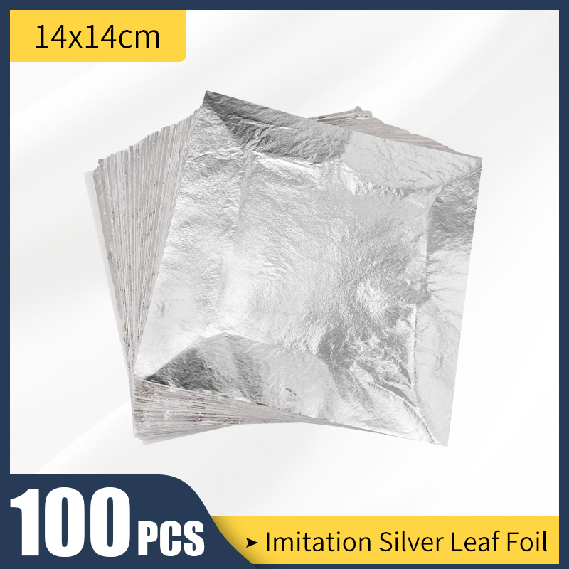 14X14cm имитация серебряного листа 100 листов листы для золочения лист алюминиевый лист листы, украшения