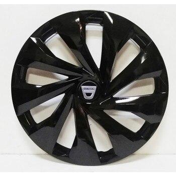 Dacia 15 Inch Piano Black Wheel Cover 4 PCs + Emblem