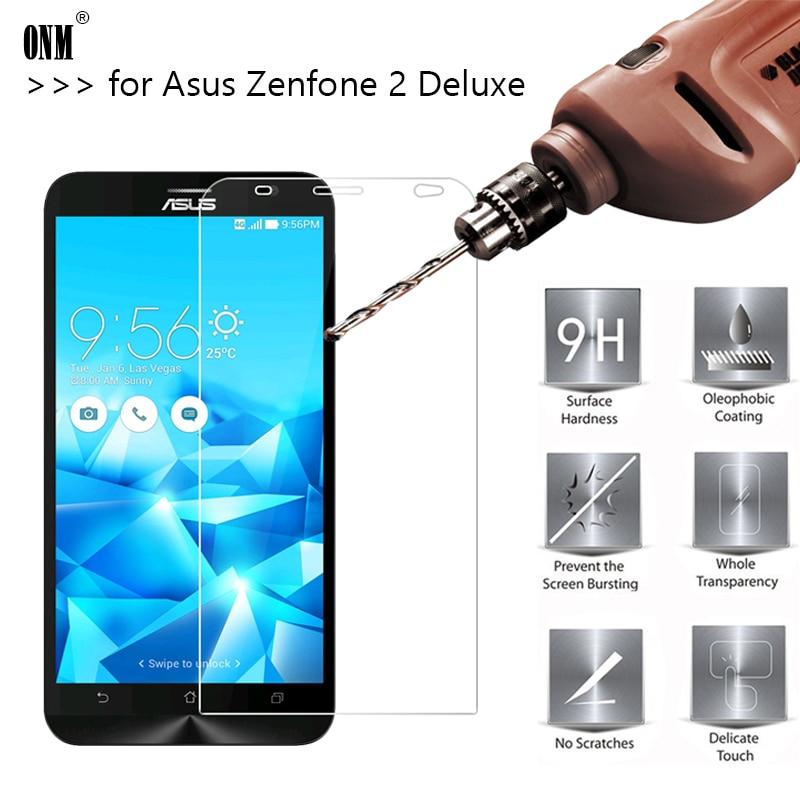 2.5D 0.26mm 9H Premium Geam temperat pentru Asus Zenfone 2 Deluxe ZE551ML ZE550ML 5.5 Protector de ecran Film de protecție întărit *