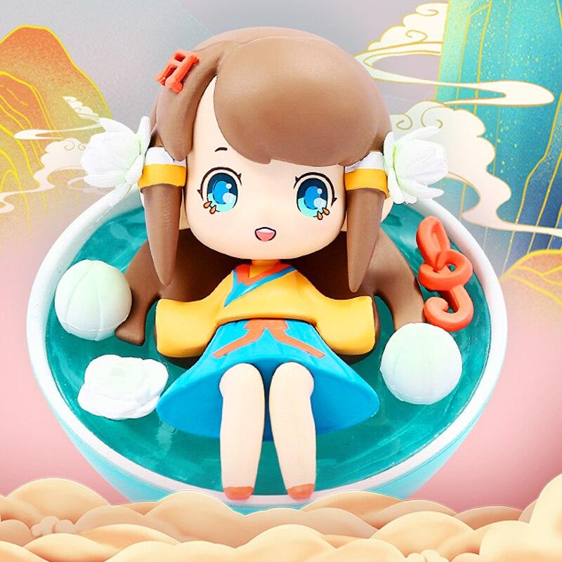 Blind Box Toys Anime Figure Original Wonder Waner Series 7Style Random Kawaii Surprise Anime Model Guess Dolls 6Pcs/Set