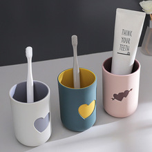 Toothbrush Cup Couple Bathroom Teeth Plastic Drinking-Cup Shabu Anti-Scald Two-Color
