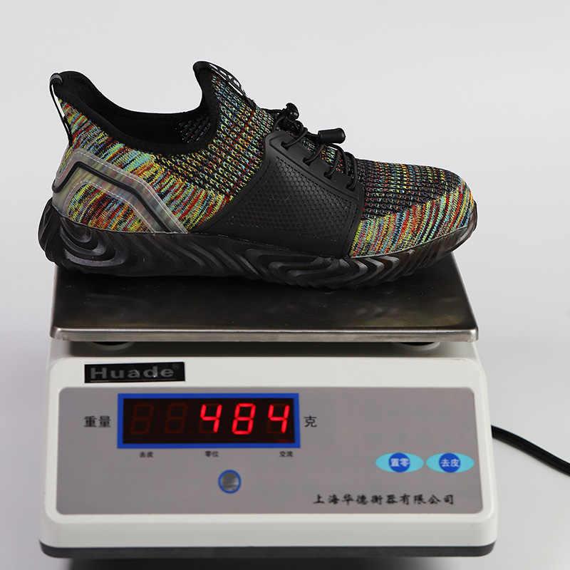 ROXDIA marka artı boyutu 35-48 çelik toecap erkek kadın güvenlik botları moda iş ayakkabı rahat erkek ayakkabı RXM142