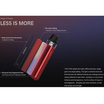 VOOPOO – Cigarette électronique Vinci Pod, Kit avec batterie intégrée de 800mAh, cartouche de 2ml, vaporisateur de 15W, VS VINCI X
