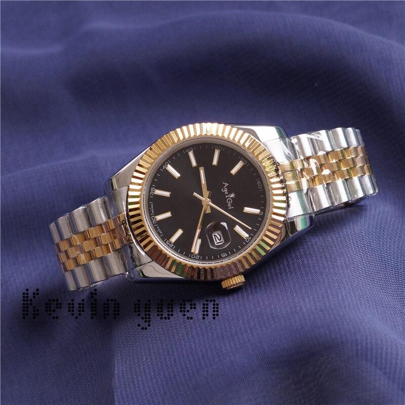 Luksusowa marka nowych mężczyzn zegarek automatyczny mechaniczny Datejust ze stali nierdzewnej różowe złoto srebrne niebieskie czarne zegarki sportowe 36mm