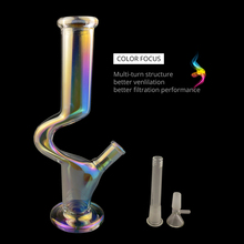 Luminous Colorful C-type Glass Pipe Set Borosilicate Percolator 2019 Hot Sale