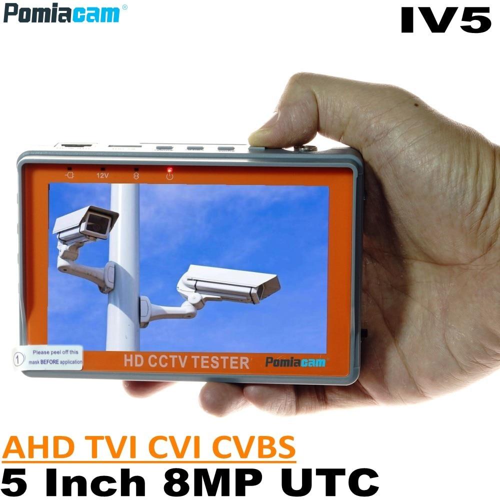 IV7W IV5 IV7A 4.3/5 Inch 5/8MP Cctv Camera Tester Portabl AHD TVI CVI CVBS CCTV Tester Monitor Wrist Style Support UTP PTZ RS485