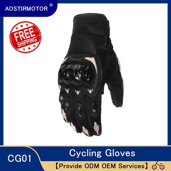 AOSTIRMOTOR Motorcycle Gloves Cycling Bicycle Gloves Moto Racing Gloves Women Men Anti Slip Sport Gloves  Full Finger outdoor motorcycle sports gloves non slip cycling bicycle sport full finger gloves motocross black camouflage army green