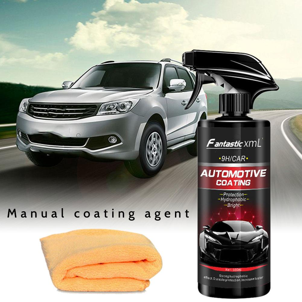 500ML Car Spray Wax Auto Cleaning Liquid Ceramic Spray Coating Car Polish Spray Sealant Top Coat Quick Nano-Coating Car Styling