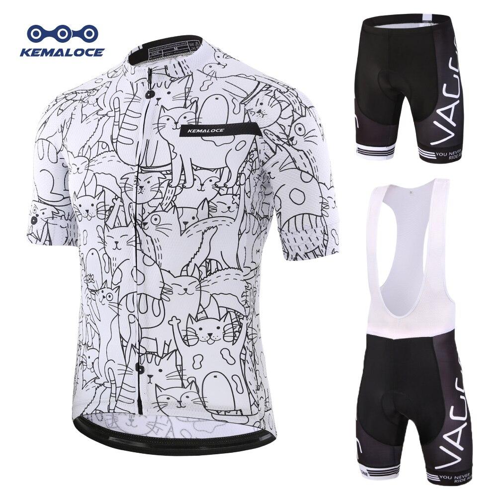 Kemaloce rro ジャージセットマウンテンバイク制服夏のサイクリング摩耗自転車の服の男性服 mtb バイクシャツ