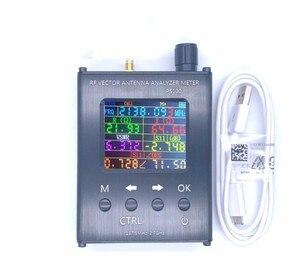 Verificador uv do medidor de swr do analisador da antena do rf de ps100/ps200 n1201sa + 35 mhz-2.7 ghz com escudo da liga de alumínio