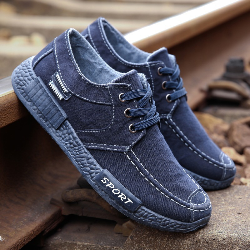 Comfort Casual Shoes Mens Shoes Denim Male Shoes Adult Footwear 2020 New Men Light Loafers Canvas Shoes Sneakers