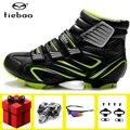 TIEBAO велосипедная обувь зимняя педаль SPD набор sapatilha ciclismo mtb кроссовки мужские велосипедные самозакрывающиеся горные велосипедные ботинки