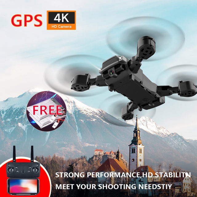 Wifi Fpv Drone 4 K With Wide-angle Camera Hd 1080 P Standby Mode From The Height Of The Folding Arm Camera Rc Quadcopter Drone