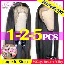 Парики из натуральных волос на шнурках Jarin, прямые парики из натуральных волос 13x4, 150% плотность, прямые бразильские парики с фронтальным кружевом Remy Jarin
