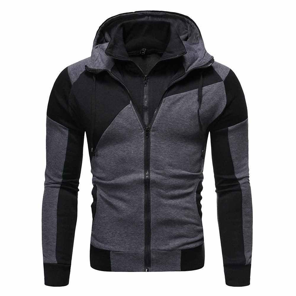 2019 Heren Hooded Jassen Herfst Casual Jassen Man Bomber Zip Up Jacket Slim Fit Mode Mannelijke Uitloper Mens hiphop Merk kleding